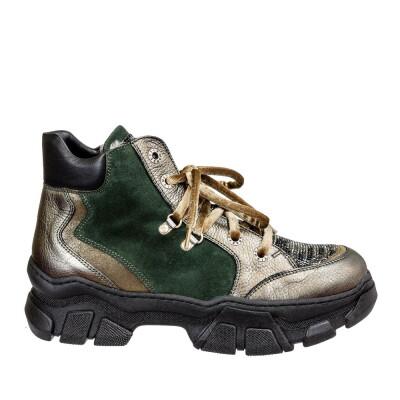 Ботинки 85171 зеленые Marzetti