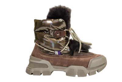 Ботинки GB6393 коричневые Fabi